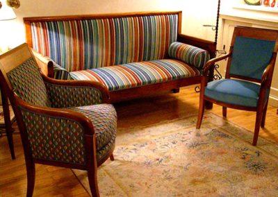 canapé et fauteuil empire