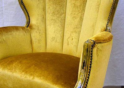 fauteuil velour crest
